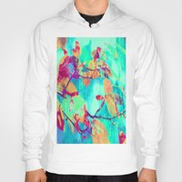 surrealism Hoodies featuring Autumn fantasy surrealism leaves by Die Farbenfluesterin