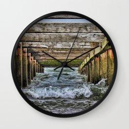 Groynes at Horsey Gap Wall Clock