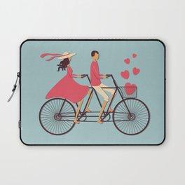 Love Couple riding on the bike Laptop Sleeve