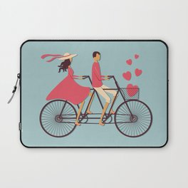 Love Couple riding on the bike Laptop Sleeve
