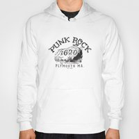 punk rock Hoodies featuring Punk Rock Plymouth Ma. by Kris Petrat Design :  Art Love Moto