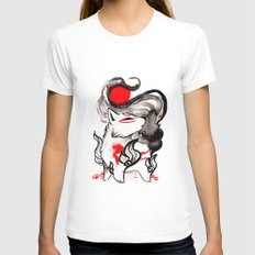 Chibi Amaterasu Okami II White Womens Fitted Tee MEDIUM