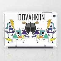 skyrim iPad Cases featuring Skyrim: The Dovahkiin - BLUE by E_Nicholson