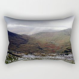 Mount Snowdon, Snowdonia, Wales Rectangular Pillow