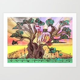 Drink the Wild Air by Rosemary Knowles, aka MaxillaMellifer Art Print
