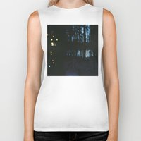northern lights Biker Tanks featuring City Lights/ /Northern Lights by Katie Mae Dickinson