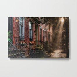 City street, downtown, Manhattan, New York (2020-6-GNY172) Metal Print