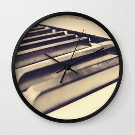 Old Piano Keys Wall Clock