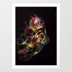 Vivid Skulls of Life Art Print