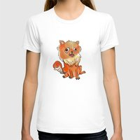 pomeranian T-shirts featuring Pomeranian by Elizabeth Ranson