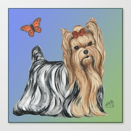 Yorkshire Terrier - Yorkie- by Nina Lyman of Dogs By Nina Canvas Print