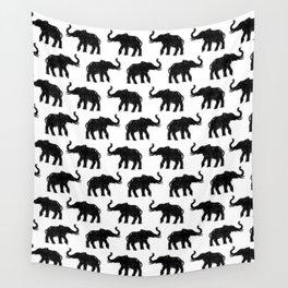 Elephants on Parade Wall Tapestry