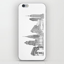 NYC Landmarks by the Downtown Doodler iPhone Skin