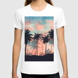 Blue peach sky T-shirt