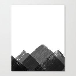 Minimalist Mountain Ink Art Print Canvas Print