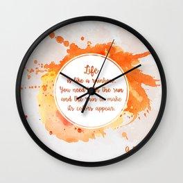 A. Ramaiya's quote Wall Clock