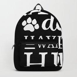 Wake Up Hug Dog Have a Good Day Pet Owner Backpack