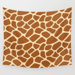 Giraffe Animal Print Pattern Wall Tapestry
