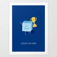 COOLEST DAD EVER Art Print