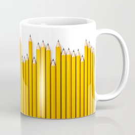 Pencil row / 3D render of very long pencils Coffee Mug