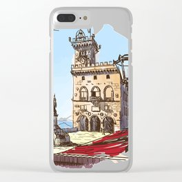 Sketches from Italy - San Marino Clear iPhone Case