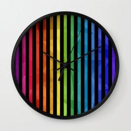 BLACK + RAINBOW Wall Clock