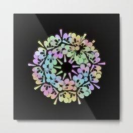 Flowers 3D Multicolore Artwork A16 Metal Print