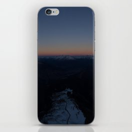summit italy pass dolomites alps sunset snow boarder color iPhone Skin