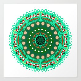the blossoming of a forest mandala Art Print