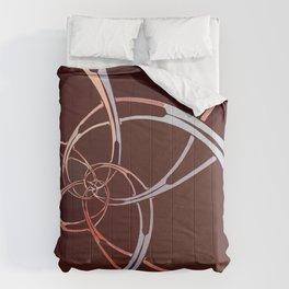 Dark Chocolate Spiral Descent Comforters