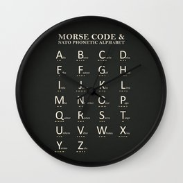 Morse Code And Phonetic Alphabet Wall Clock