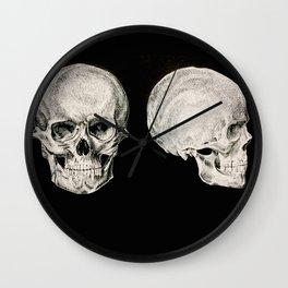 Human Skulls Wall Clock