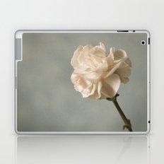 White carnation Laptop & iPad Skin