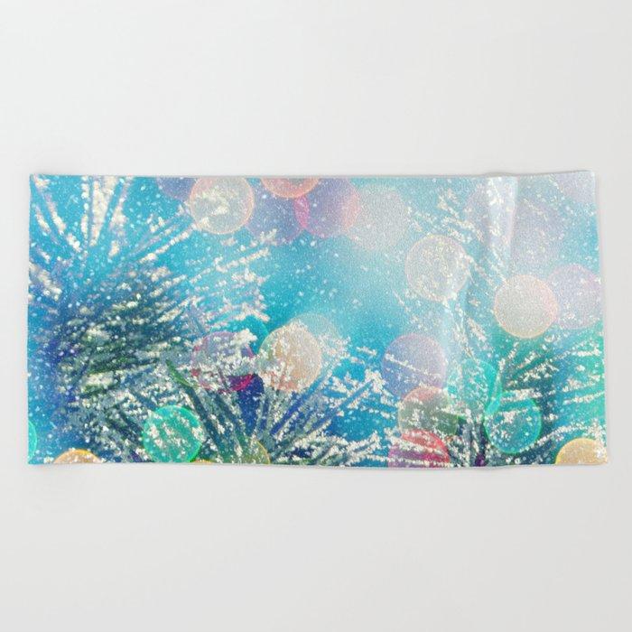 Happy Holidays Beach Towel