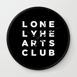 Lonely Hearts Club - 4 Arrangement - Black Wall Clock