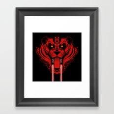 Dark Side Saber-Toothed Tiger Framed Art Print
