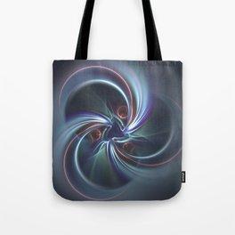 Moons Fractal in Cool Tones Tote Bag