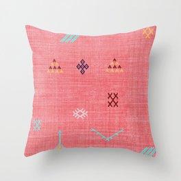 Cactus Silk Pattern in Pink Throw Pillow