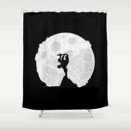 Skater Moon Shower Curtain