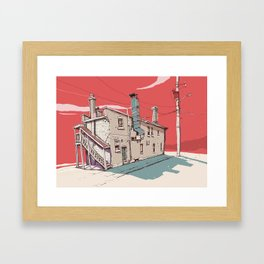 4 p.m Framed Art Print