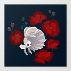 Bettas and Poppies Canvas Print