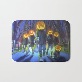 Attack of the Jack-O-Lanterns Bath Mat