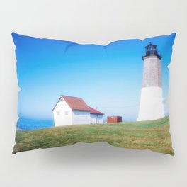 The Point Judith Light is located on the west side of the entrance to Narragansett Bay Pillow Sham