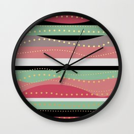 WAVING COLORS Wall Clock