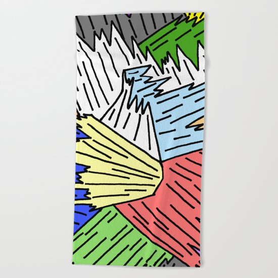 Color Shards Beach Towel