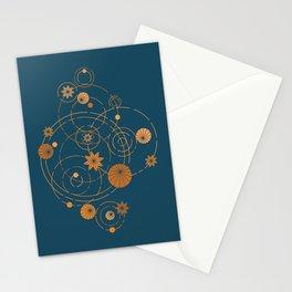 Lotus pool geometry Stationery Cards