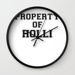Property of HOLLI Wall Clock