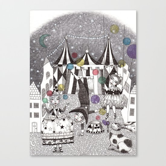 Night Carnival Canvas Print