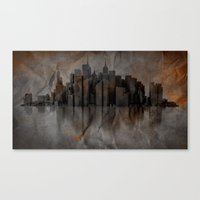 metropolis Canvas Prints featuring Metropolis by Robin Curtiss