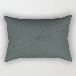Night Watch PPGs Color of the Year 2019 and Gold Thin Striped Circle 3D Pinwheel Rectangular Pillow